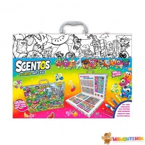 Ароматный набор для творчества АРТ-КЕЙС Scentos (карандаши, ручки, маркеры, фломастеры, наклейки) 30081