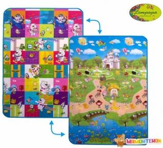 Детский двусторонний коврик Limpopo Мишки и Прогулка с друзьями 120х180см (LP002-120)