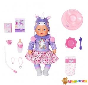 Кукла BABY BORN серии Нежные объятия Милый Единорог 828847 (43 см, с аксессуарами)