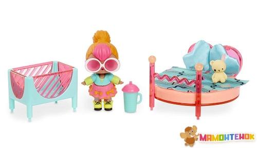 Игровой набор с куклой L.O.L. SURPRISE! Стильный интерьер Леди-Неон 561743