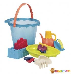 Набор для игры с песком и водой Battat Summery Мега-Ведерце Море BX1444Z (9 предметов)