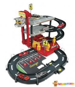 Игровой набор Bburago Гараж FERRARI (3 уровня, 2 машинки 1:43) 18-31204