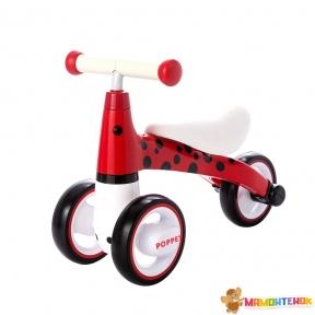 Детский трёхколёсный беговел POPPET Божья коровка Иви PP-1603R (красно-чёрный)