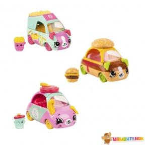 Набор мини-машинок Shopkins Cutie Cars S3 Стрит-фуд ( 3 машинки с мини-шопкинсами) 57139