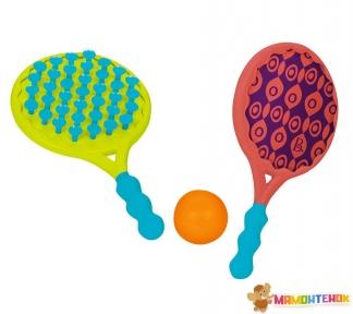 Игровой набор Battat Пляжный теннис Два-в-одном BX1526Z (ракетки с присосками, мячик)