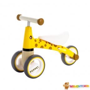 Детский трёхколёсный беговел POPPET Жираф Лори PP-1601Y (желто-коричневый)