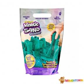 Песок для детского творчества KINETIC SAND Бирюзовый блеск 71489T (907 g)