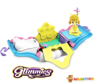 Игровой набор Glimmies S1 Волшебный Домик Жужу (раскладывается, с мерцающей  фигуркой) GLM04000/UA