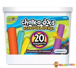 Набор цветных мегамелков для рисования в ведерце Scentos (20 шт) 63255