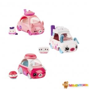 Набор мини-машинок Shopkins Cutie Cars S3 Спешим на чай ( 3 машинки с мини-шопкинсами) 57138