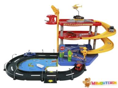Игровой набор Bburago ГАРАЖ (3 уровня, 2 машинки) 18-30025