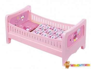 Кроватка для куклы Baby Born Сладкие сны (с постельным набором) 824399