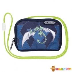 Кошелек детский Herlitz Crossbody Robo Dragon Green