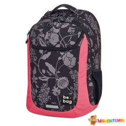 Рюкзак Herlitz Be.Bag be.active Mystic Flowers чорно-рожевий