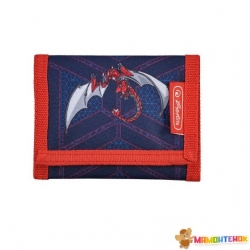 Кошелек детский Herlitz Portmone Robo Dragon Red