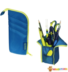 Пенал-подставка 2в1 Herlitz My.case Sport Blue/Lemon
